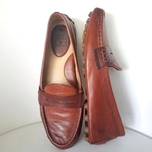 Frye Rebecca Penny Driving Leather Loafer Shoes